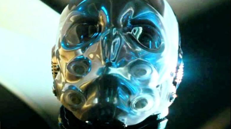 Cobra Commander dons mask