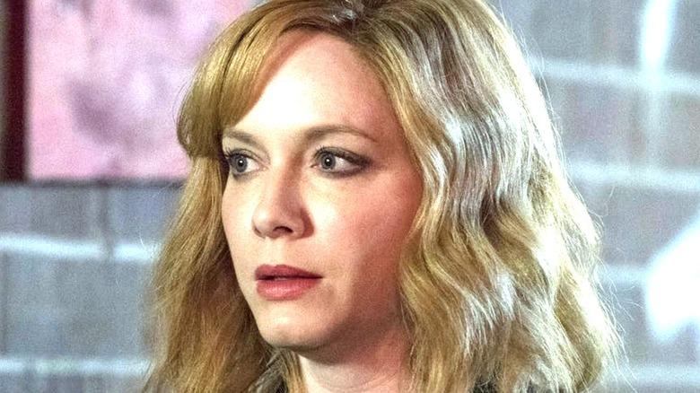Beth looking apprehensive