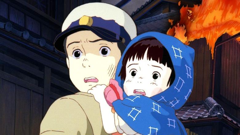 Seita holding Setsuko