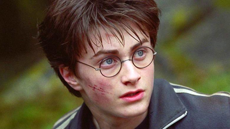 Harry looks left