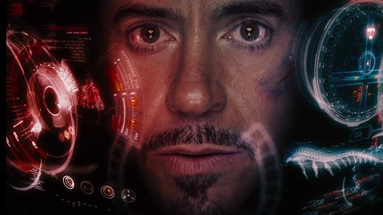 Tony inside Iron Man suit