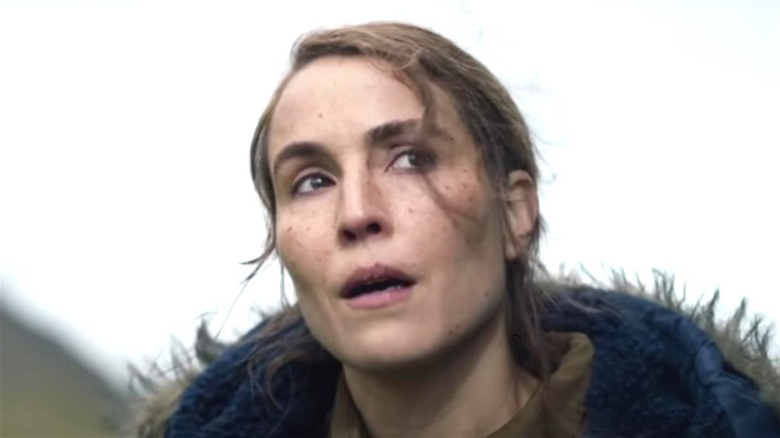 Noomi Rapace looking up in Lamb movie