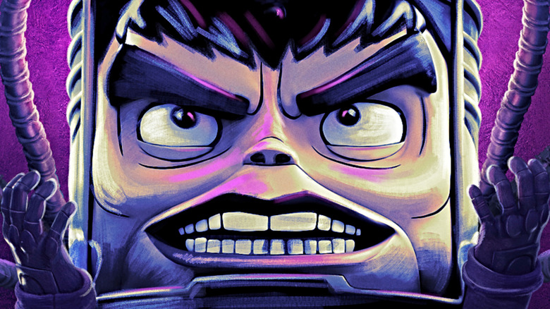 MODOK evil purple face