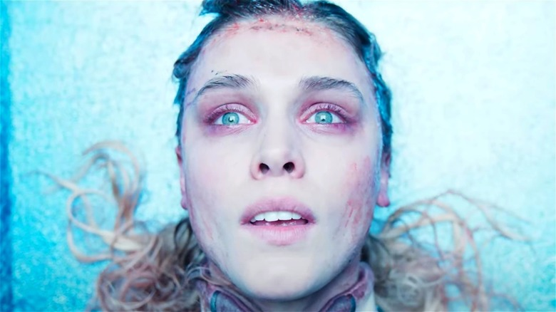 """Gaia Weiss looks at bright light in """"Meander"""""""