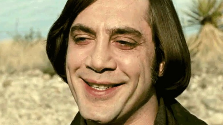 Javier Bardem as Anton Chigurh from No Country for Old Men