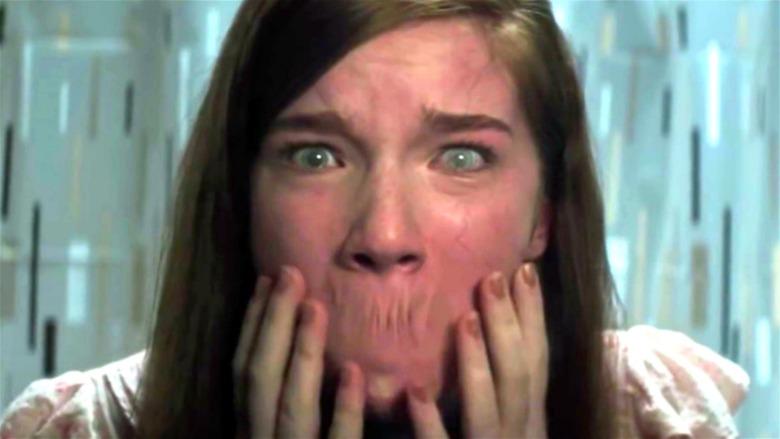 Lina Zander with no mouth in Ouija: Origin of Evil