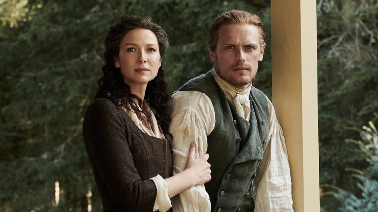 Caitriona Balfe and Sam Heughan as Claire and Jamie in Outlander Season 4