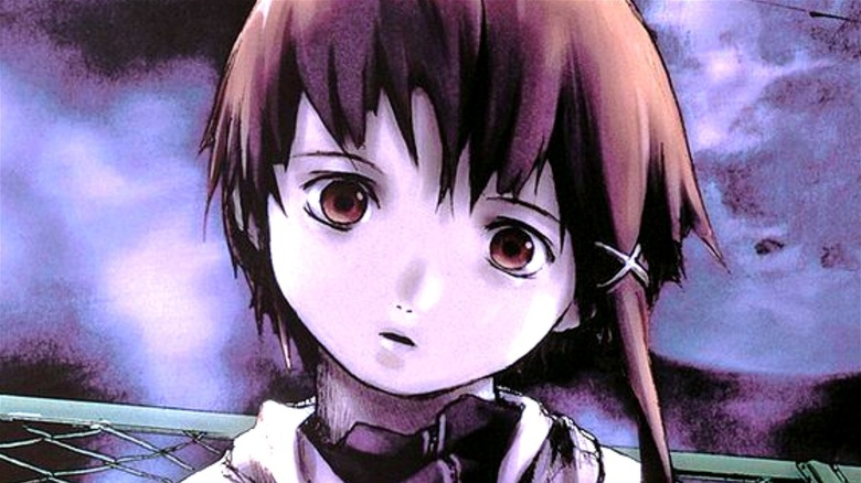 Lain stares blankly