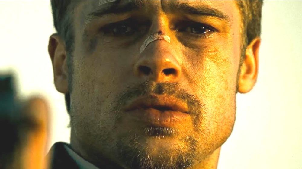 Seven Brad Pitt crying