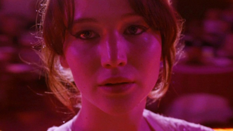 Tiffany Maxwell under pink lighting