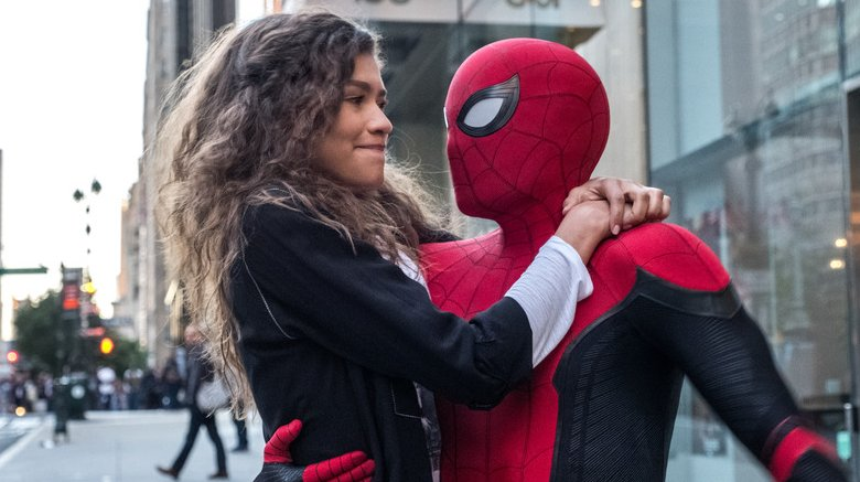 Spider-Man and MJ Spider-Man Far From Home