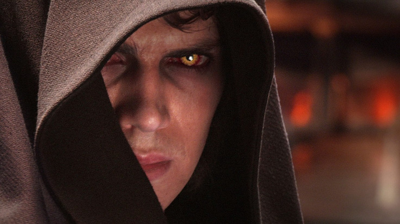 Anakin corrupted by the dark side