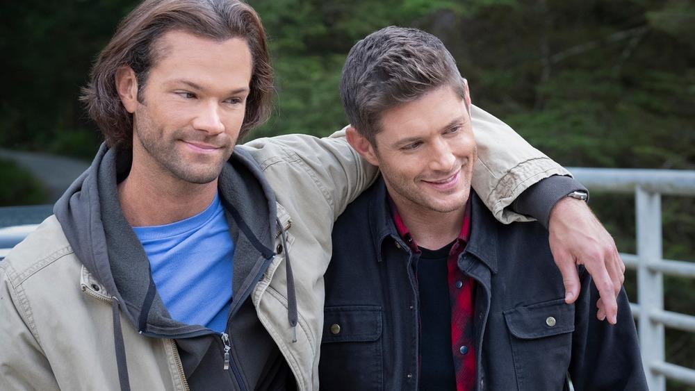 Sam with his arm around Dean