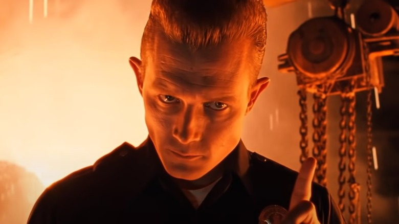 T-1000 wagging a finger