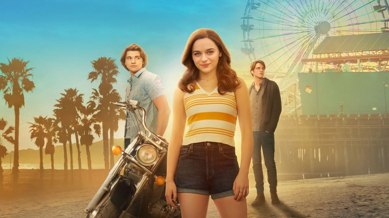 Jacob Elordi, Joey King and Joel Courtney in The Kissing Booth 2