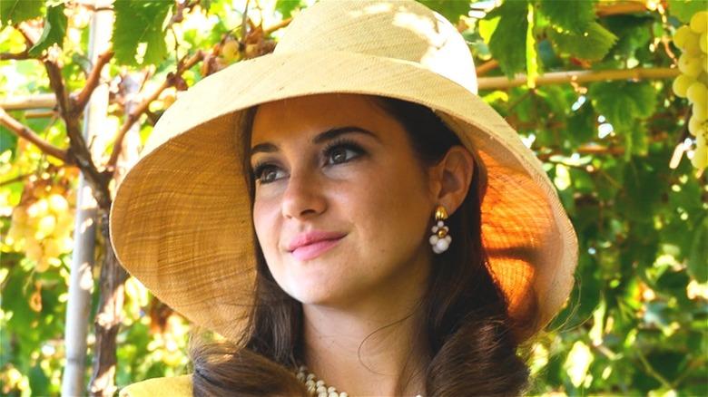 Jennifer wearing a sun hat