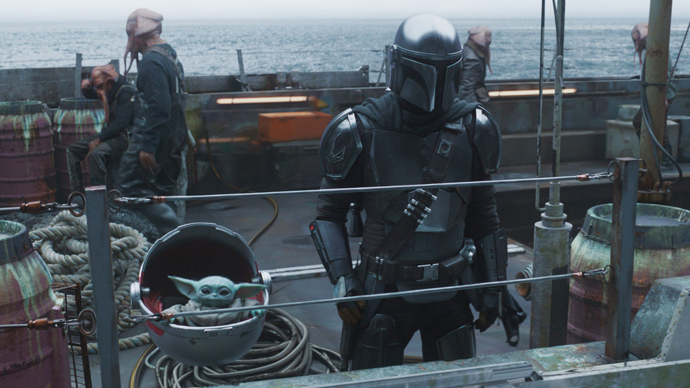 Mando and the Child in The Mandalorian chapter 11