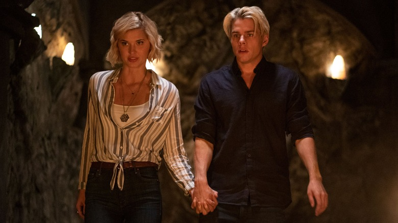 Alyssa Drake (Sarah Grey) and Jack Morton (Jake Manley) on The Order