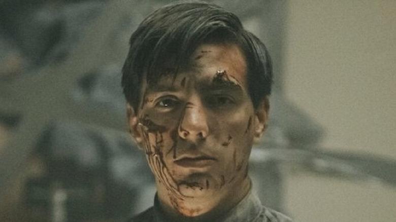 Vadhir Derbez covered in blood