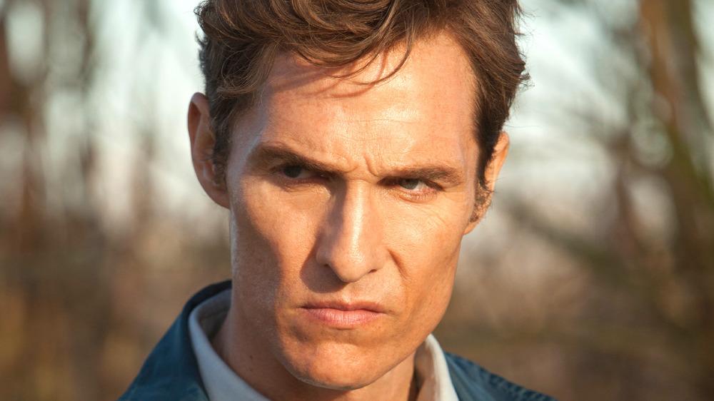 Matthew McConaughey as Rust Cohle focused