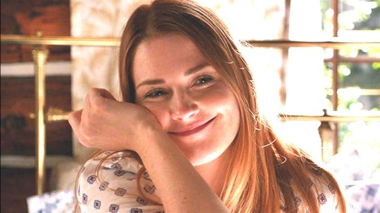 Mel smiling in her cabin on Virgin River