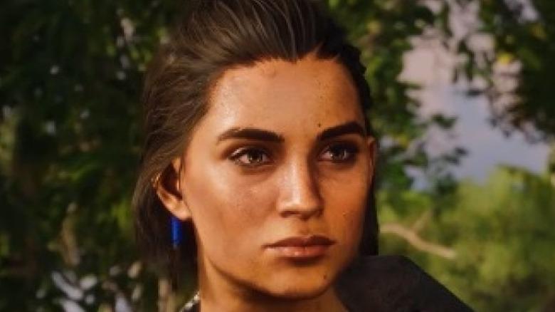 Closeup of female Dani Rojas' face