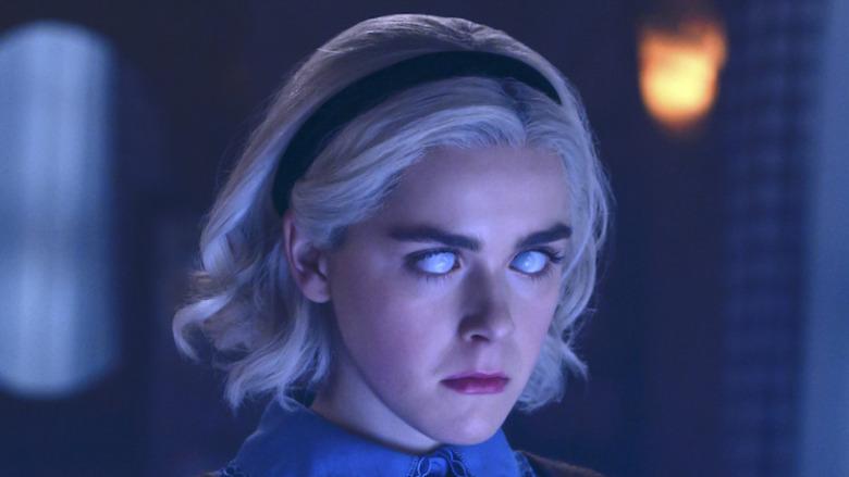 Sabrina Spellman casts a spell