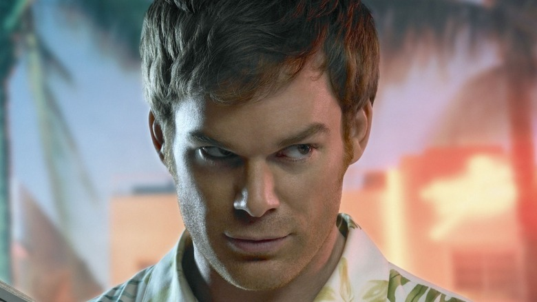 Dexter Morgan glancing sideways