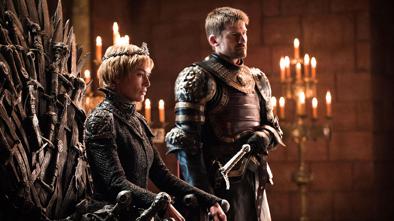 Nikolaj Coster-Waldau as Jaime Lannister and Lena Headey as Cersei Lannister in Game of Thrones