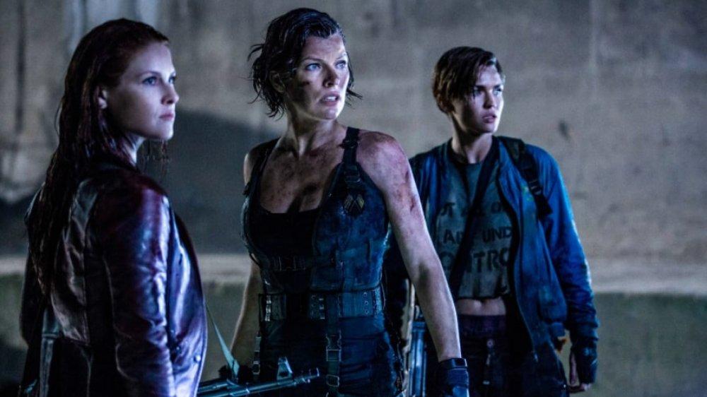 Milla Jovovich as Alice in Resident Evil