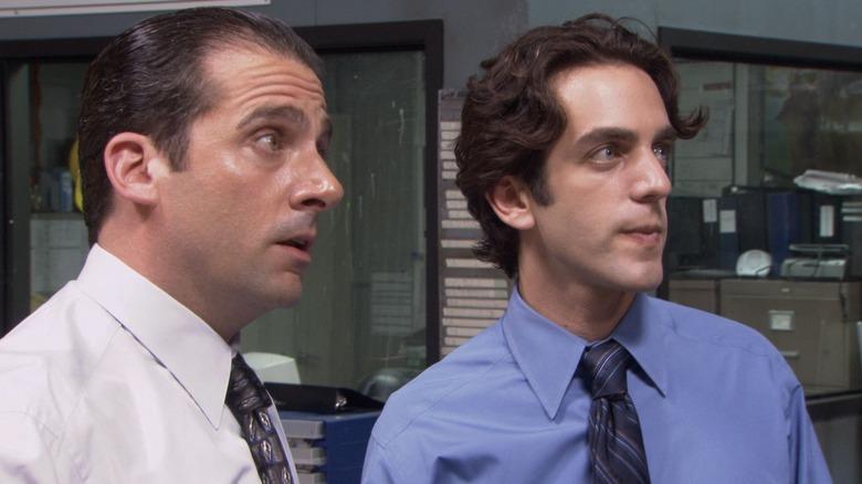 Steve Carell and B.J. Novak in The Office
