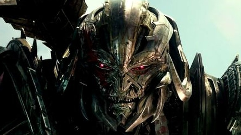 Michael Bay's Megatron glares
