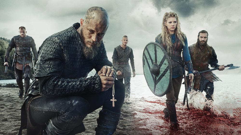 Floki, Ragnar, Bjorn, Lagertha, Rollo