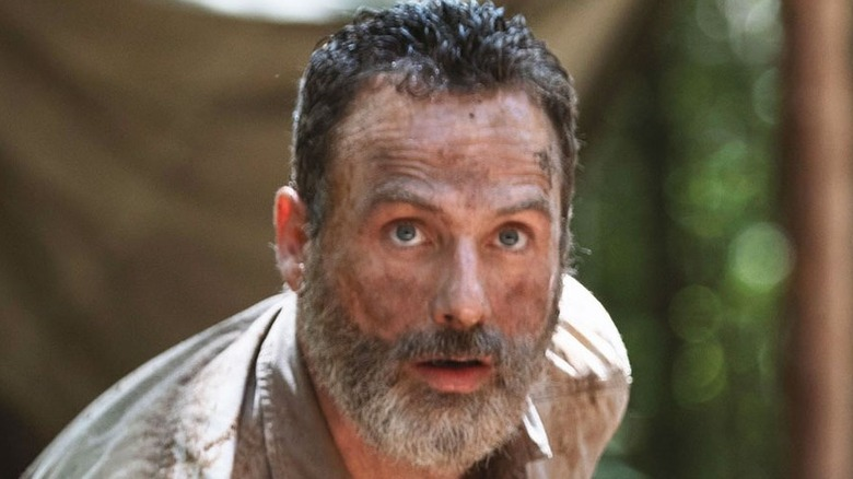 Rick Grimes looks scared