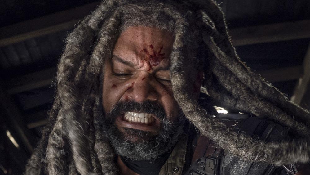 Khary Payton as Ezekiel, Josh McDermitt as Dr. Eugene Porter - The Walking Dead _ Season 10, Episode 15