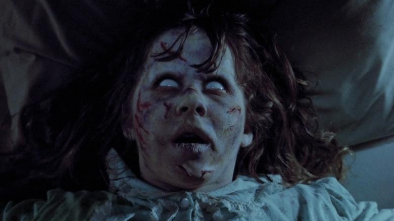 Regan MacNeil with white eyes