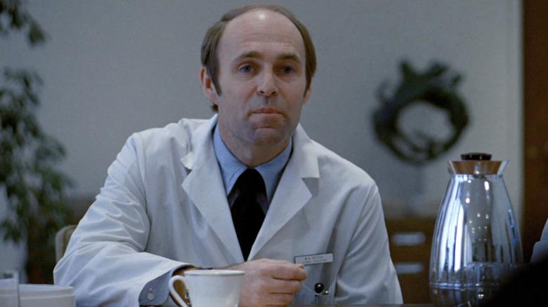 Dr. Barringer in conference room