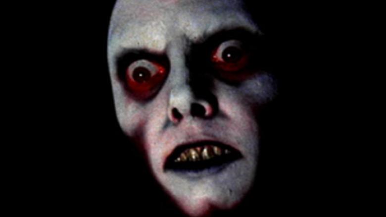 ghoulish face sunken eyes