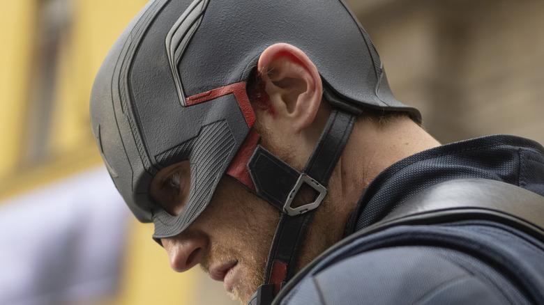 John Walker wearing helmet