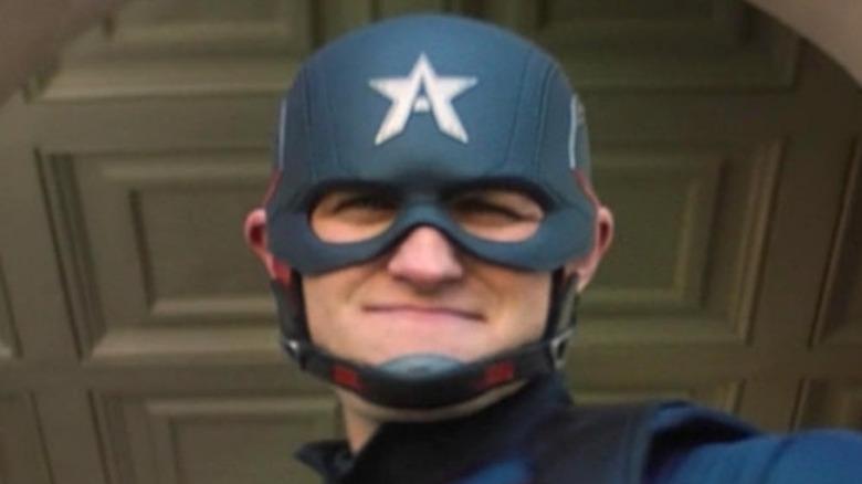 Wyatt Russell new Captain America podium