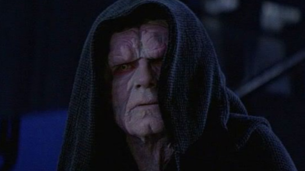 Emperor Palpatine in his throne room