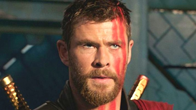 Thor with red face paint
