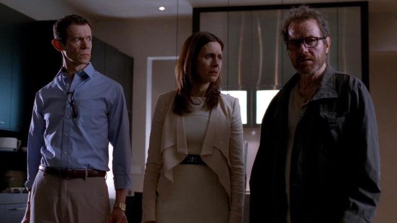 Walt. Gretchen, and Elliott in Breaking Bad