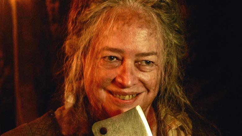 Kathy Bates grins in AHS: Roanoke