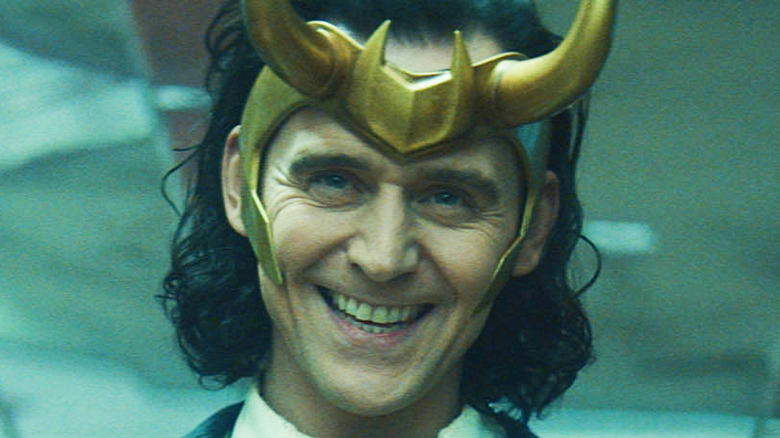 Loki grinning devilishly
