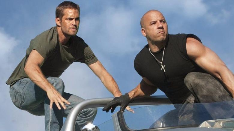 Paul Walker and Vin Diesel in Fast 7