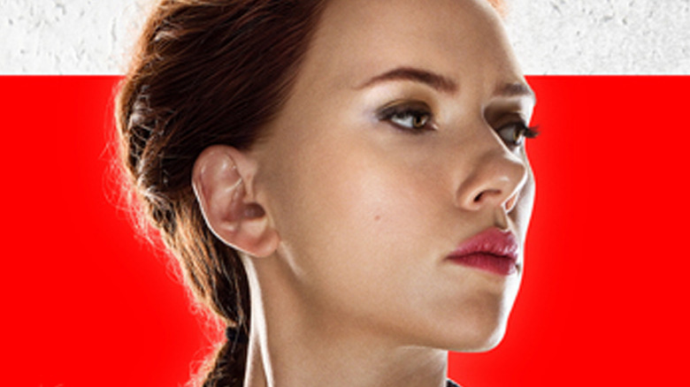 Black Widow Movie Poster Face