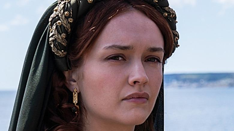 House of the Dragon Olivia Cooke wearing headdress