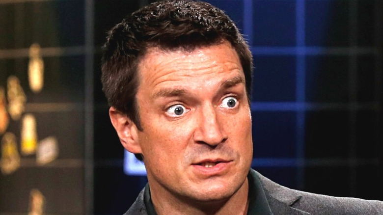 Nathan Fillion being goofy