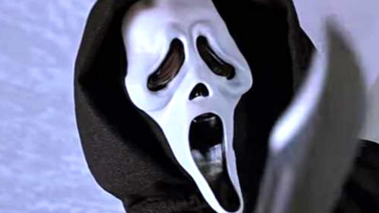 Ghostface wielding knife in Scream